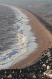 Beautiful Angry sea. A beautiful winter sea scape in Dorset Royalty Free Stock Photo