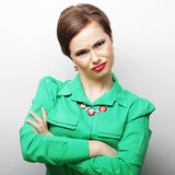 Beautiful angry woman Stock Image