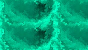 Beautiful animation of mixing of green color shades forming shapeless cloud abstract moving towards left