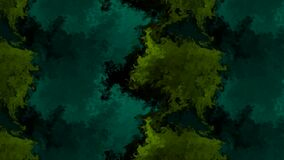 Beautiful animation of mixing of shades of green color representing cloud abstract moving towards right on dark background