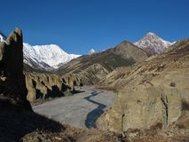 Beautiful Annapurna Conservation Area Stock Photo