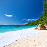 Beautiful Anse Intendance beach at Seychelles Royalty Free Stock Photo