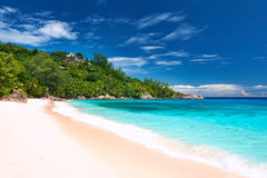 Beautiful Anse Intendance beach at Seychelles Stock Photos