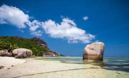 Beautiful Anse Source D'Argent Beach Royalty Free Stock Image