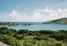 Beautiful Antigua in the Caribbean. Beach near St. John`s in Antigua in the Caribbean Sea Stock Photo