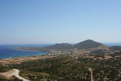 Antiparos Island, aegean sea in Greece. Beautiful Antiparos Island, aegean sea in Greece. A special panorama and dry area stock image