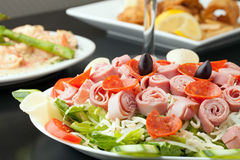 Beautiful Antipasto Salad Royalty Free Stock Photos