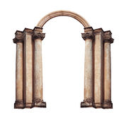 Beautiful antique arch isolated on white background Stock Photos