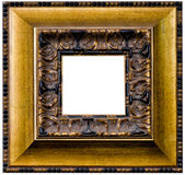 Beautiful antique carved frame Stock Photos