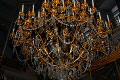 Beautiful antique crystal chandelier Stock Image