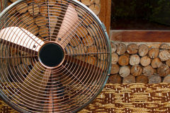 Beautiful antique  fan on a wooden backgrounds,objects Royalty Free Stock Photography