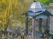 Beautiful antique gazebo in park. A beautiful antique gazebo in the park Royalty Free Stock Images
