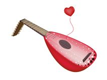 A Beautiful Antique Lute Playing Love Song Stock Photography