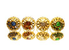 Beautiful antique Oriental Turkish gold jewelry women ring Royalty Free Stock Photos