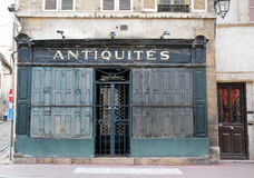 Beautiful and antique shops in beaune burgundy france Royalty Free Stock Photo
