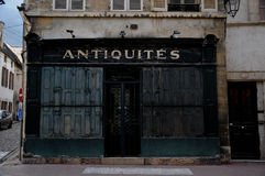 Beautiful and antique shops in beaune burgundy france Royalty Free Stock Photos