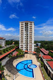 Beautiful Apartment with Blue Sky Stock Photo