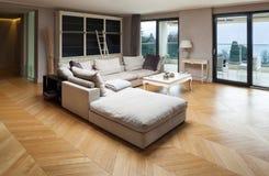 Beautiful apartment furnished Stock Photo