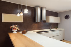 Beautiful apartment furnished, kitchen Stock Images