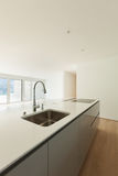 Beautiful apartment, modern kitchen Royalty Free Stock Images