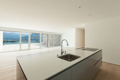 Beautiful apartment, modern kitchen Stock Photo