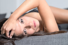 Beautiful appealing young woman Stock Photos