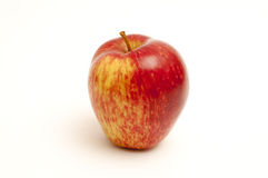 Beautiful apple on white. Red colorful apple on a white background Royalty Free Stock Photos