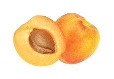 Beautiful apricot isolated Royalty Free Stock Images