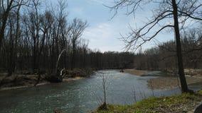 Beautiful April day along pine creek stock photography