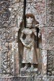 Beautiful apsara of Ta Som Temple Royalty Free Stock Photography