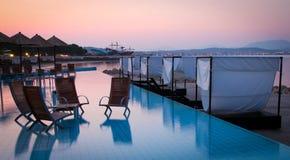 Beautiful aqua beach bar on a croatian beach Stock Image
