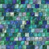 Beautiful aqua color decorative small mosaic tiles background Stock Images
