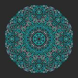 Beautiful aqua ornamental background Stock Images