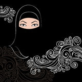 Beautiful arab woman silhouette Stock Photos