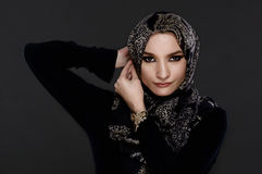Beautiful Arab Woman Wearing Abaya Stock Images