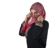 Beautiful arabian lady wearing traditional islamic Stock Photo