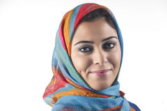 Beautiful arabian lady wearing traditional islamic Stock Photos