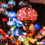 Beautiful Arabian lamps at a bazaar Royalty Free Stock Images