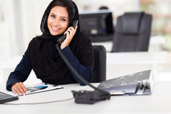 Arabian office worker Royalty Free Stock Image