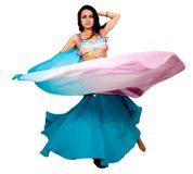 Beautiful arabic belly dancer Royalty Free Stock Images