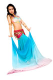 Beautiful arabic belly dancer Royalty Free Stock Photography