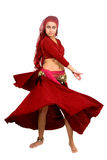 Beautiful arabic belly dancer Stock Photo