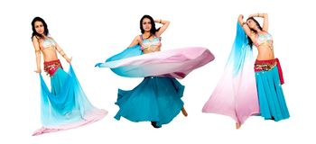 Beautiful arabic belly dancer Royalty Free Stock Photos