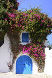 Beautiful Arabic Blue Door - Sidi Bou Said, Mediterranean Architecture Stock Photo