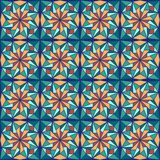 Beautiful arabic design template with seamless arabic pattern. Abstract islamic design. Girih pattern. stock illustration
