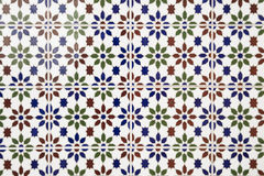 Beautiful arabic mosaic tiles Stock Photo