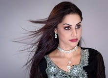 Beautiful arabic woman portrait Stock Images