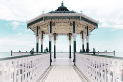 Beautiful arbor in Brighton. With blue, cloudy sky in the background Stock Images