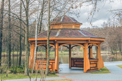 Beautiful arbor in the park. This photo was taken in a park, near Kiev Royalty Free Stock Photography