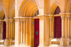 Beautiful arch colonnade in Mdina. Beautiful arabic arch colonnade in Maltese Mdina Royalty Free Stock Images